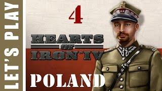 Hearts of Iron IV Pugnacious Poland Run Two Let's Play 4