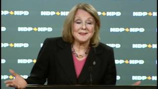 NDP's Peggy Nash on EI changes May 24, 2012