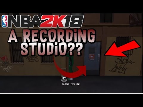 NBA 2K18 - There's A RECORDING STUDIO In This Game!! Make MUSIC with DAMIAN LILLARD??