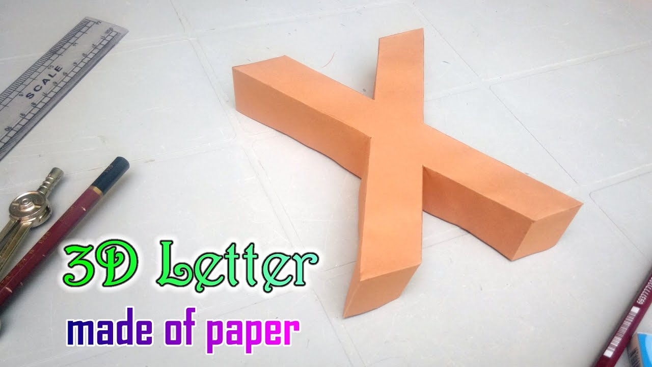 maxresdefault  D Phi Paper Letter Template on printable box, cut out,