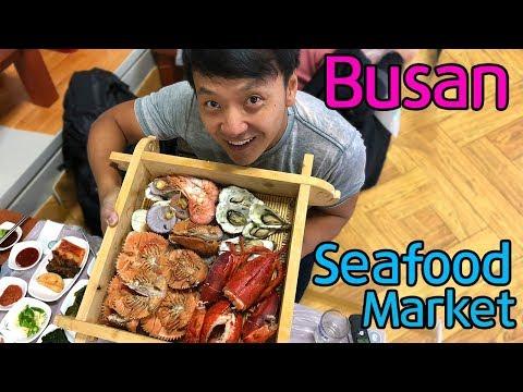 LARGEST SEAFOOD MARKET in Korea! Jagalchi Market in Busan