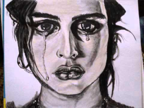 emotional charcoal drawing of a crying girl youtube