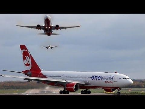 Düsseldorf Airport Time-Lapse - Airbus, Boeing ... (HD)
