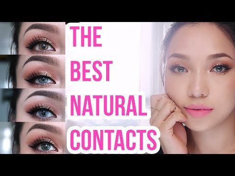 Best colour changing contact lenses | Dark Brown eyes to...