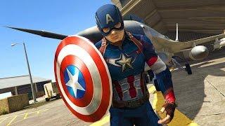 GTA 5 - Captain America dùng khiên ném người dân và quậy phá thành phố   ND Gaming