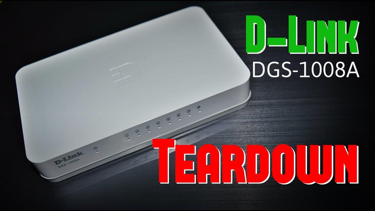Teardown D Link Dgs 1008a 8 Port 1 Gbps Ethernet Switch Youtube Netgear Gs105e100pes Gigabit 5port Vlan Green