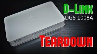 Демонтаж Д-Лінк ДГС-1008a з 8-портовим комутатором 1-Гбіт / с Ethernet