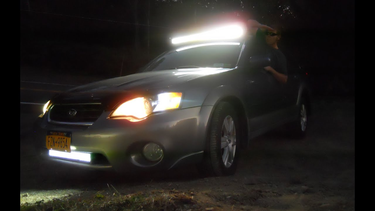 42 Curved Led Light Bar Installation And Wire On My Subaru Rigidhorse