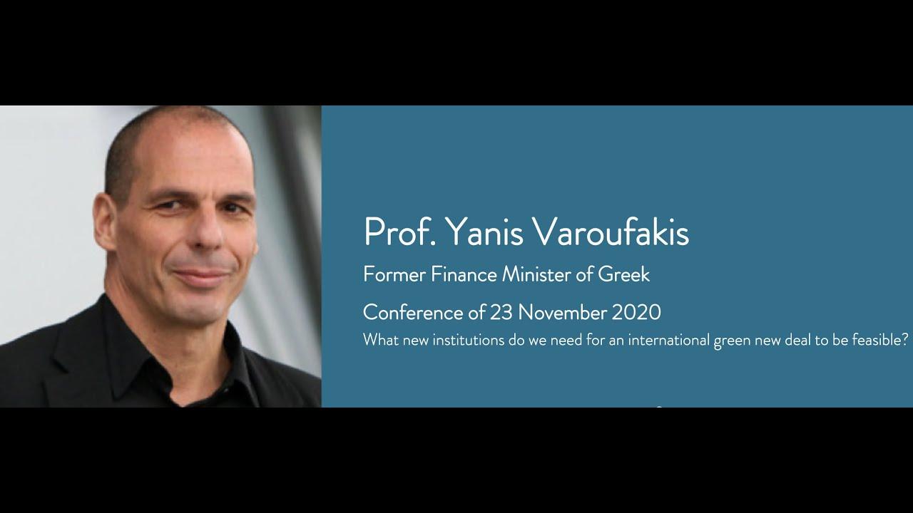 Former Finance Minister of Greek, Professor Yanis Varoufakis