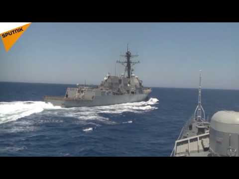 US Destroyer's Close Encounter With a Russian Ship