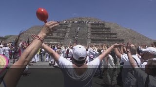 Mexicans Visit Pyramids To Celebrate Spring Equinox