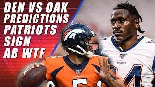 Antonio Brown Signs with Patriots: Broncos vs Raiders Preview
