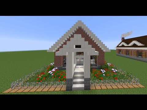 Como hacer una casita clasica de ladrillo en minecraft Construir una pileta de ladrillos