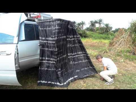 Toyota Land Cruiser Kinshasa installation douche