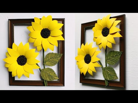 DIY Beautiful Sun Flower Wall Decor | Home Decoration | Wall Hanging | #36 |