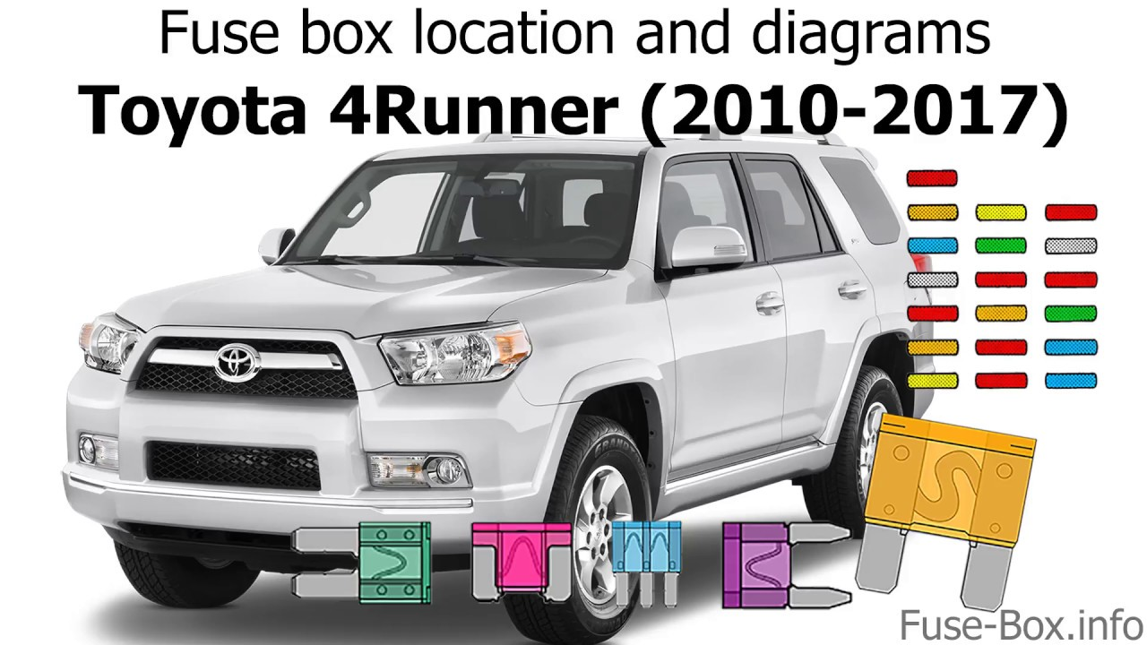 [CSDW_4250]   Fuse box location and diagrams: Toyota 4Runner (2010-2018) - YouTube | 2005 4runner Fuse Box Diagram |  | YouTube