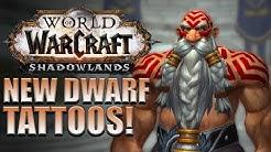 Dwarf TATTOOS! Male/Female Customization Options | Shadowlands Alpha