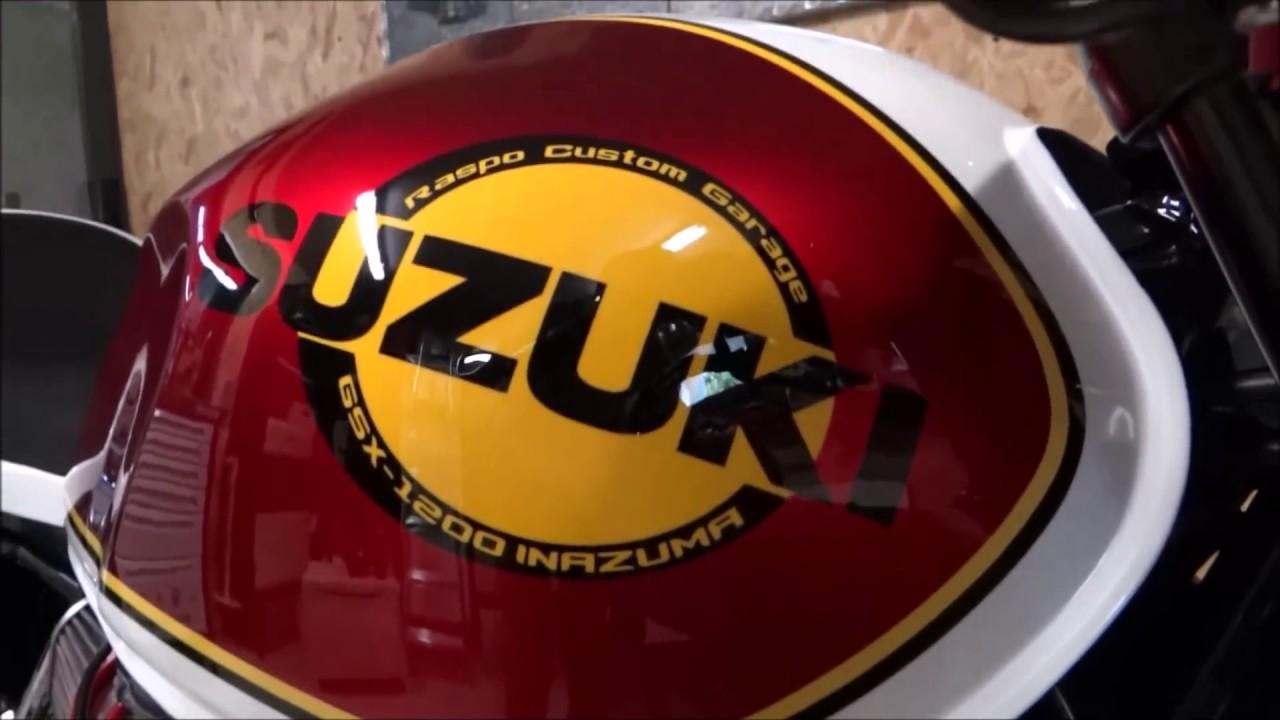 café racer suzuki inazuma gsx 1200 barry sheene - youtube