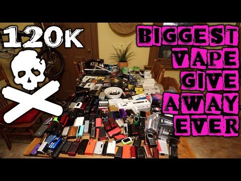 120k SUBSCRIBERS!!! BIGGEST VAPE GIVEAWAY EVER!!! SILVER PLAY BUTTON!!! F-YEAH!!! THANK YOU!!!