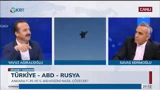 Yavuz Ağıralioğlu  KRT TV 39;Siyaset Gündemi39; programı  11062019