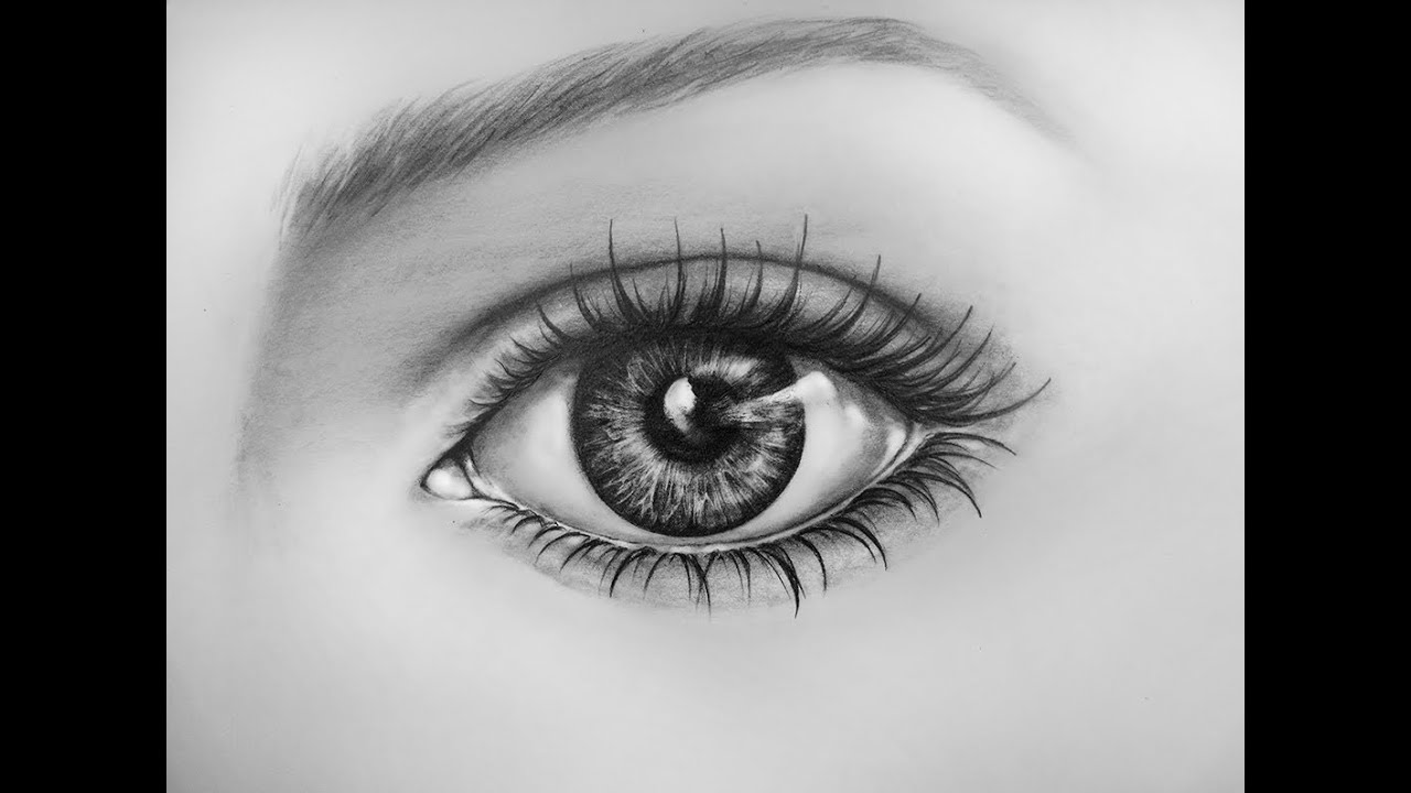 How To Draw An Eye, Time Lapse  Learn To Draw A Realistic Eye With Pencil   Youtube
