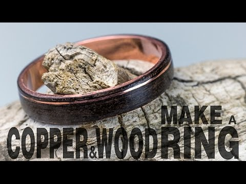 How to make a copper and wood ring youtube for How to make a wooden ring