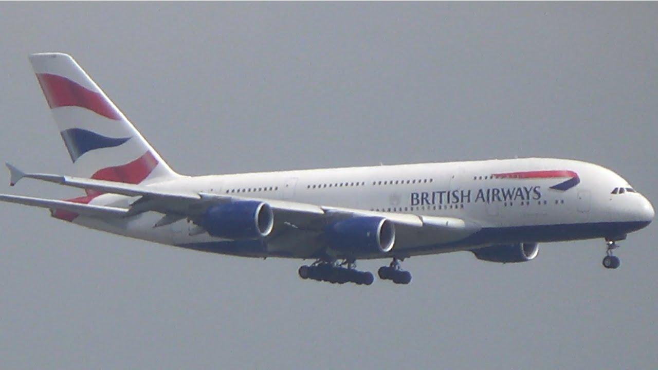 British Airways A380 Inaugural flight to Washington Dulles ...