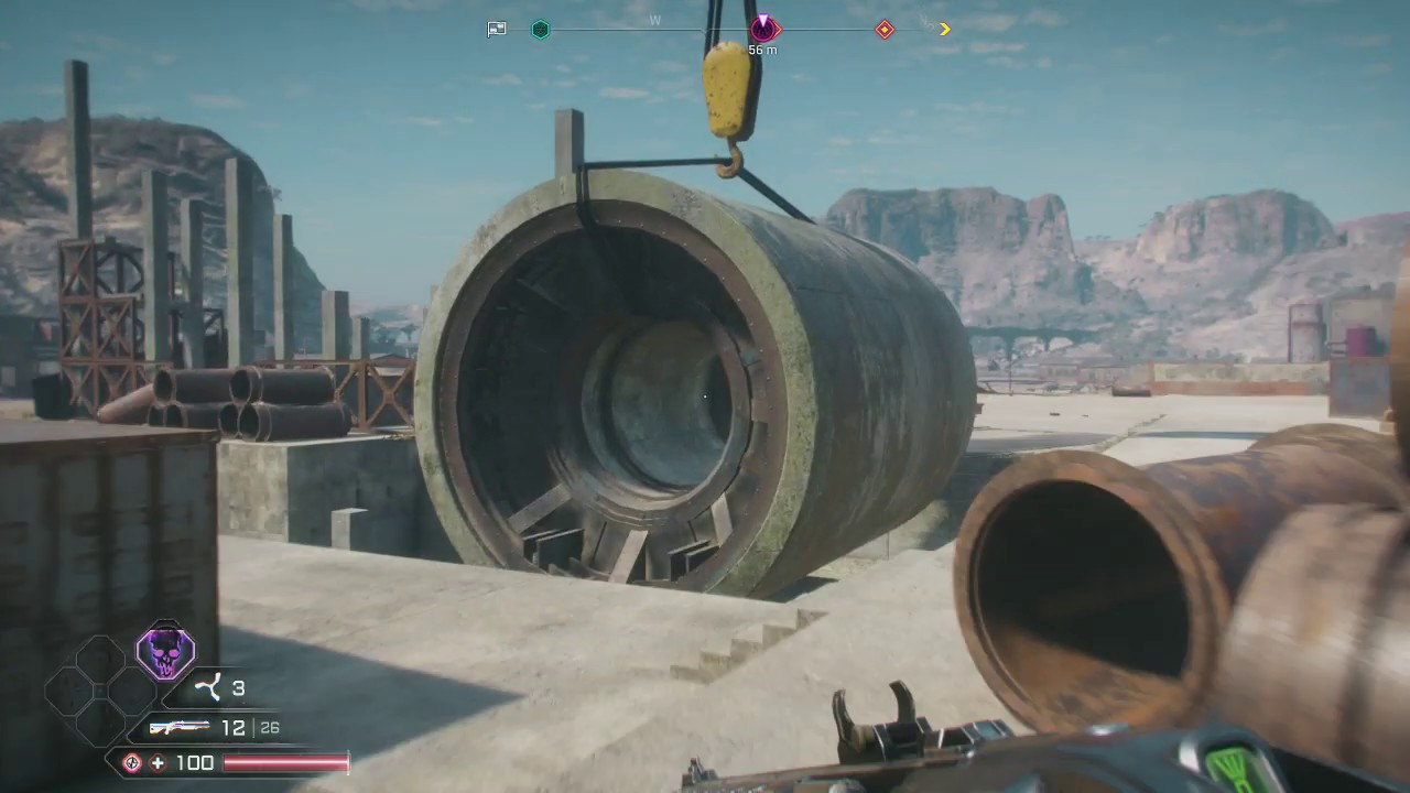 Rage 2 - The Ruined Shaft - Kill Lug The Nut Boss - Crusher Nest in Twisted  Canyons Region