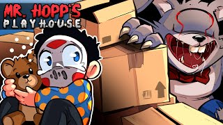 OHMWRECKER'S EVIL BUNNY SCARES ME!!! - MR HOPP'S PLAYHOUSE! 😨 Pixel Horror Game