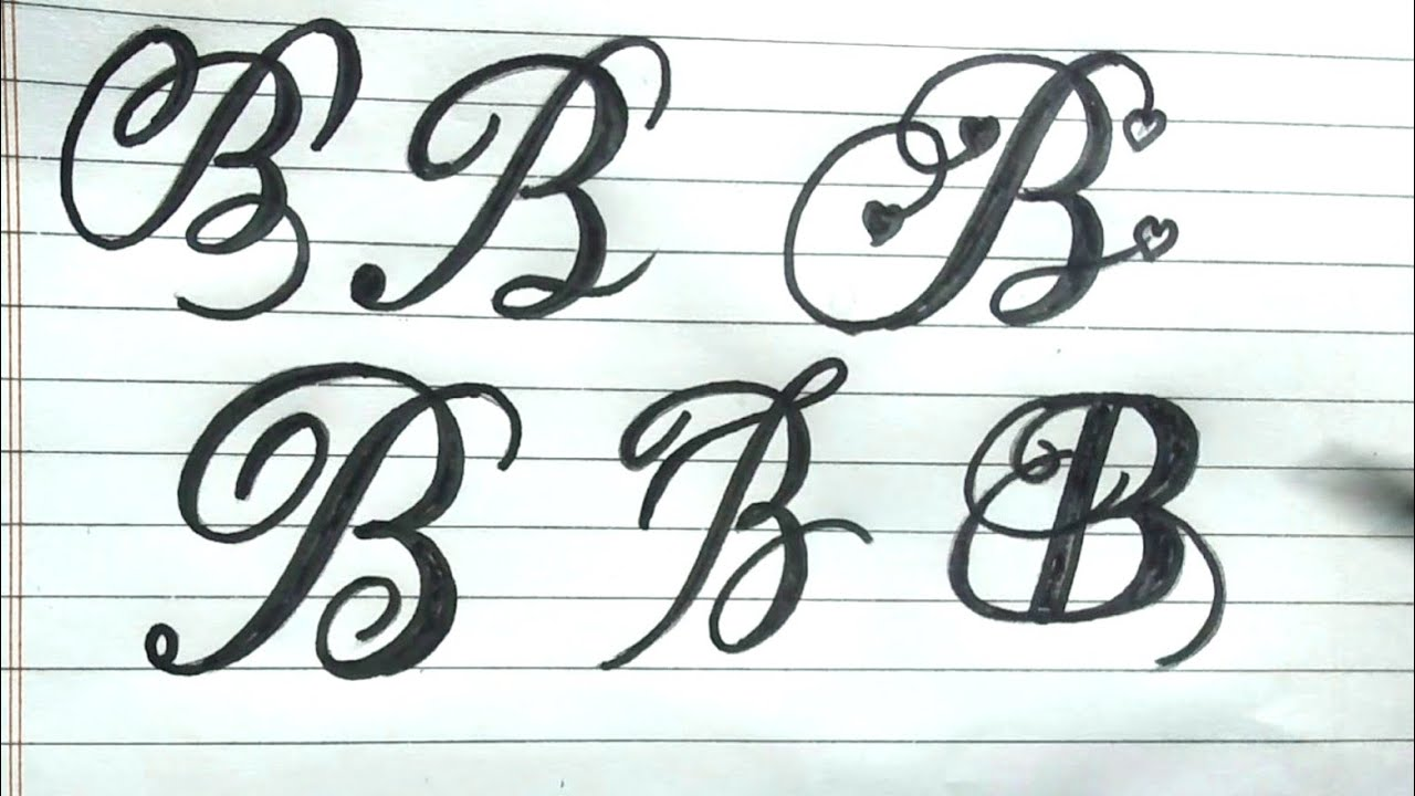 How to write stylish Letter B  in different ways Alphabets B stylish  writing  RUA sign writing