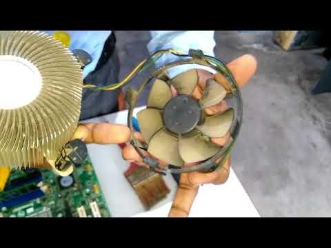 How to clean processor fan and heatsink