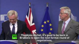 """Now we have to work"" Davis & Barnier in Brussels"