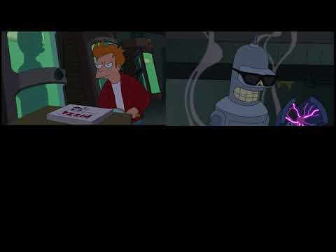 Futurama Bender's Big Score  - Applied Cryogenics Time Travel Scene Comparisons