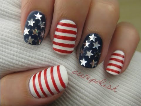 Stars stripes 4th of july nail art youtube stars stripes 4th of july nail art prinsesfo Choice Image