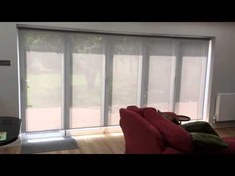 Electric Roller Blind with Screen Material