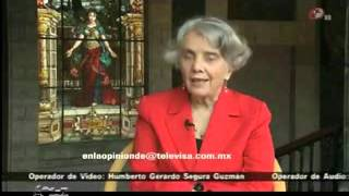 En Televisa, Elena Poniatowska, critica fuertemente a la misma Televisa.