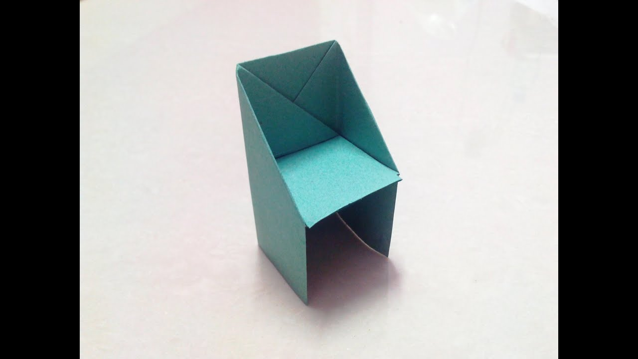 How to make an origami chair step by step. - YouTube