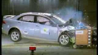 Краш-тест Honda Accord 2003 от EuroNCAP. Фронтальный удар