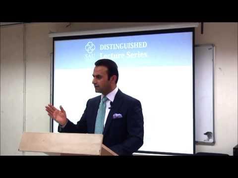 HE Shaida Mohammad Abdali speaking at the South Asian University