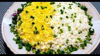 Салат с копченой курицей и плавленым сыром Слоеный салат с курицей и сыром