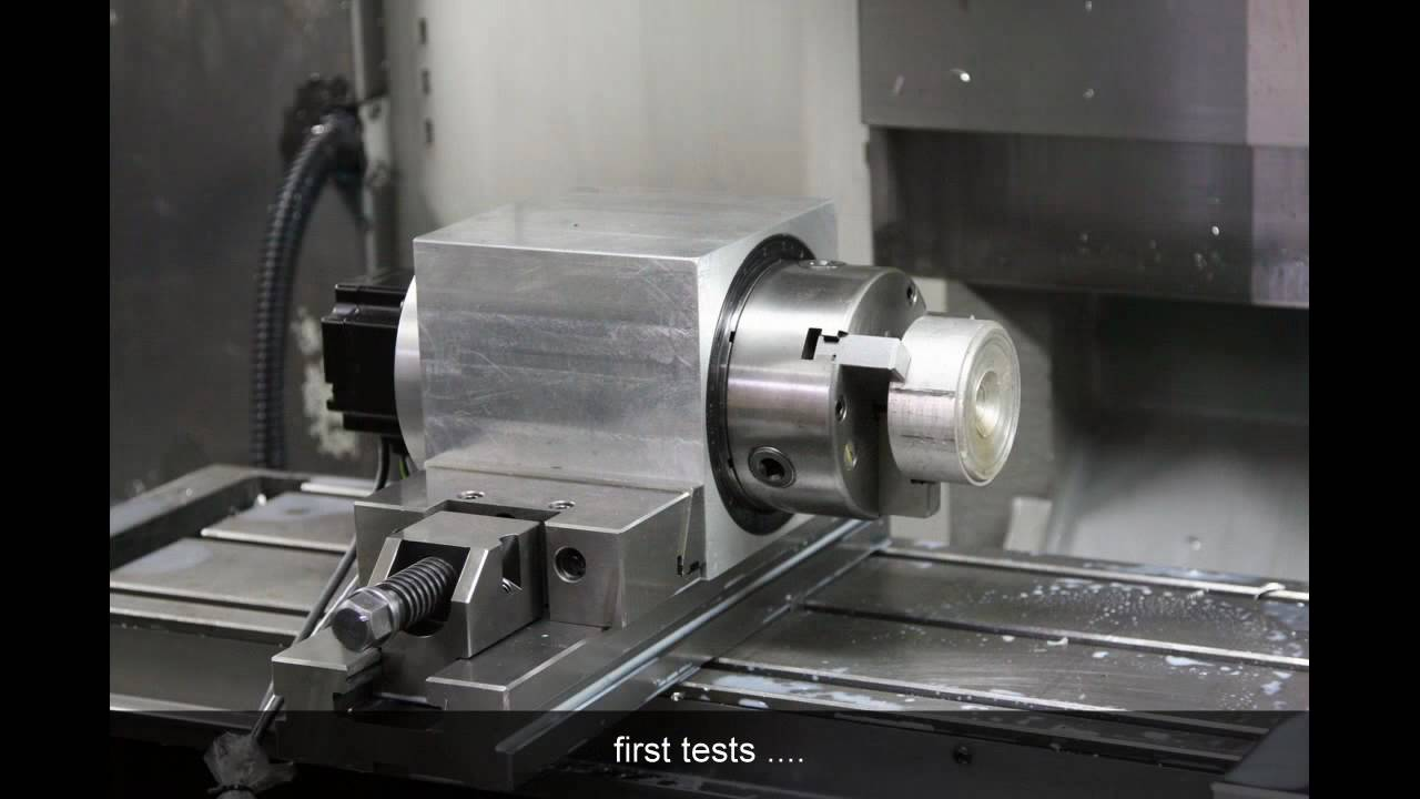 Selfmade 4th Axis For Haas Machine Making Of Slideshow