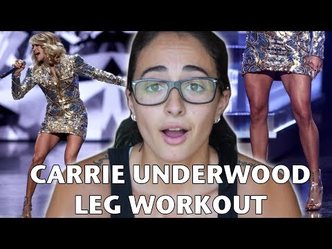 I TRIED CARRIE UNDERWOOD'S LEG WORKOUT