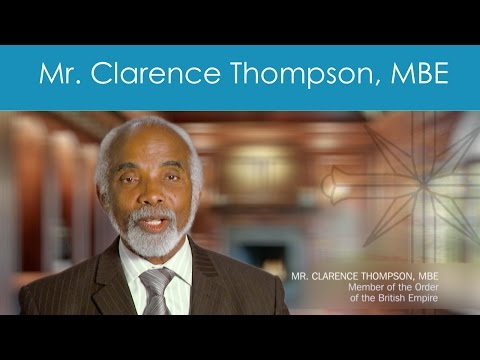 Mr. Clarence Thompson MBE, Member of the Order of the British Empire