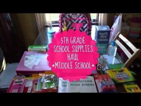 5TH GRADE SCHOOL SUPPLIES HAUL! | MIDDLE SCHOOL | 2017 🎒📚