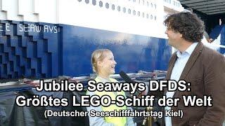 Größtes LEGO-Schiff der Welt: Jubilee Seaways DFDS (Dt. Seeschifffahrtstag Kiel)