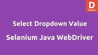 Select DropDown Value using Selenium Java