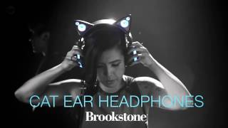 Brookstone | Cat Ear Headphones with Speakers