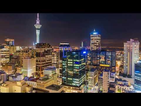 Coucher de soleil sur Auckland