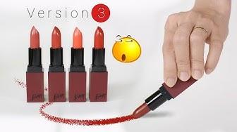 Swatch + Review son BBIA Last Lipstick version 3 phiên bản vỏ nâu đỏ | Tiny Loly