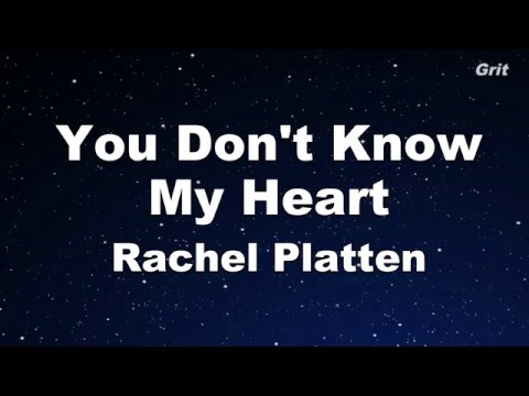 You Don't Know My Heart - Rachel Platten Karaoke 【With Guide Melody】Instrumental